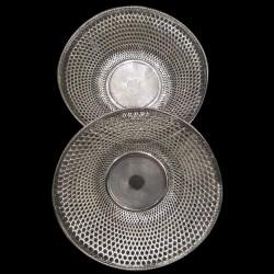 paire de corbeille XIXth ronde métal argenté
