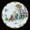 """Decorative tin plate """"The secret village of mice"""" Mouse with a painted scroll"""