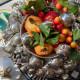 Surtout de table corbeille de fruit en argent par Buccellati