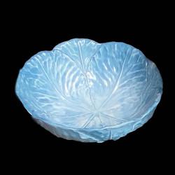 Assiette creuse faïence chou bleu