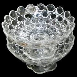 paire coupe en cristal baccarat XIXème D 18 cm