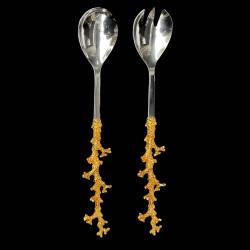 Fork gilded coral handle