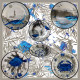 Melamine Ouessant collection dessert plate