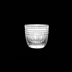 Verre Gobelet cristal taillé et platine