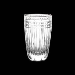 Platinum Cut Crystal Highball Tumbler