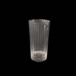 Ribbed Crystal Highball tumbler glass