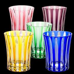 Old-fashioned cut crystal glass