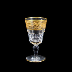 Verres à vin doux porto cristal Baccarat Eldorado XIXe H 10,7 cm
