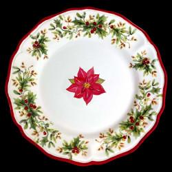 Assiette de table faïence Poinsettia Red Nose