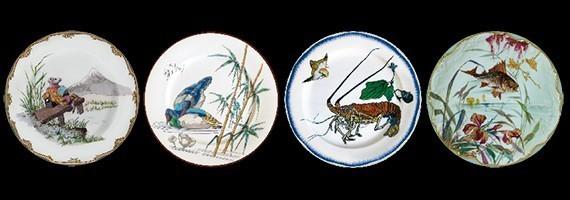 Decorative printed tin plates