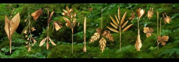 Gilted vegetal ornaments