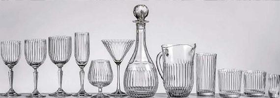 Figaro Ribbed Crystal Glasses